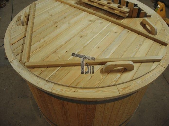 Badezuber Holzdeckel 2