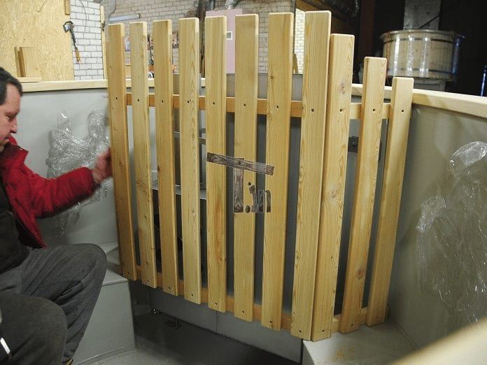 Holzzaun Hitzeschutz Für Innenofen 1