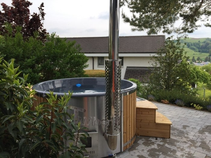 Thermowood Wellness Royal Whirlpool Mit Integrierter Heizung