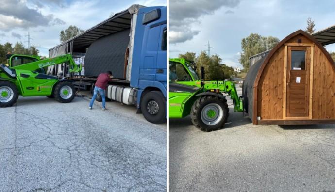 Sauna Unloading Forklift
