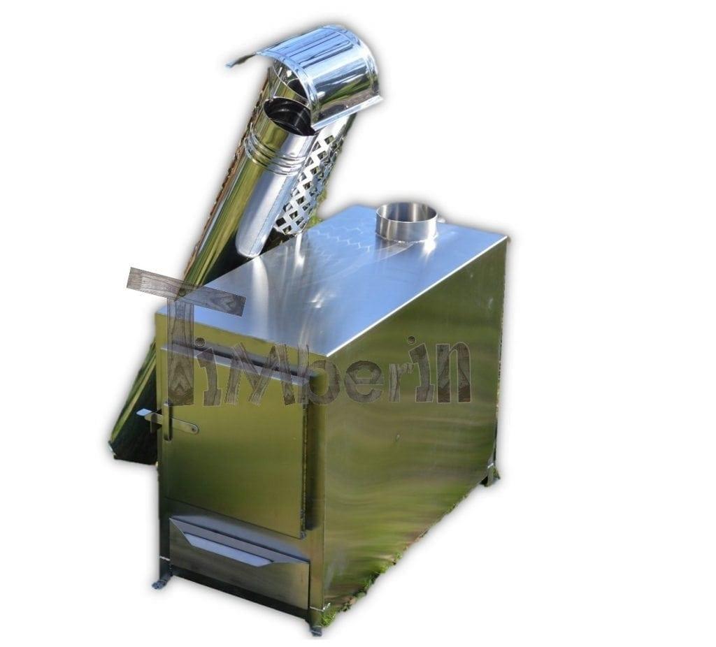 Au en rechteginen holzofen f r badezubern und pools timberin for Stahl pool rechteckig