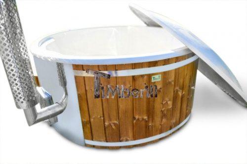 Badefass gfk mit Whirlpool Holz befeuert