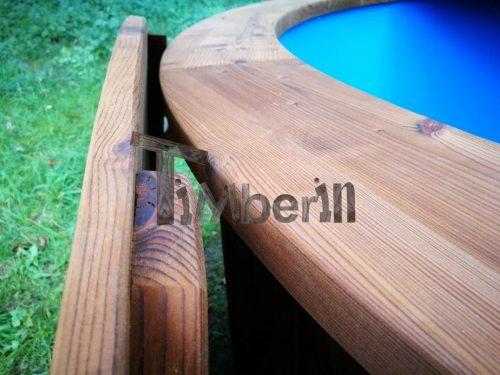 HotPot Fieberglas Mit Aussenofen Fichte Lärche Thermo Holz 20