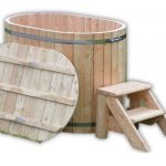 Badetonne aus Holz für 2 Personen
