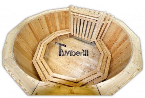 Badebottiche Lärchenholz mit innen oder Aussenofen - TimberIN