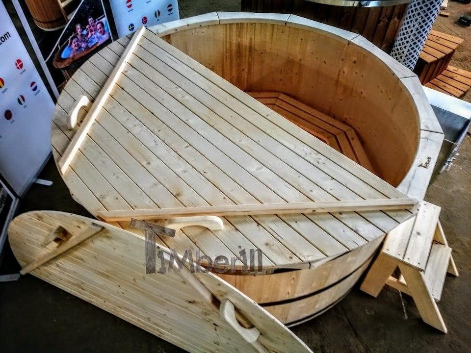 badebottiche l rchenholz mit innen oder aussenofen timberin. Black Bedroom Furniture Sets. Home Design Ideas