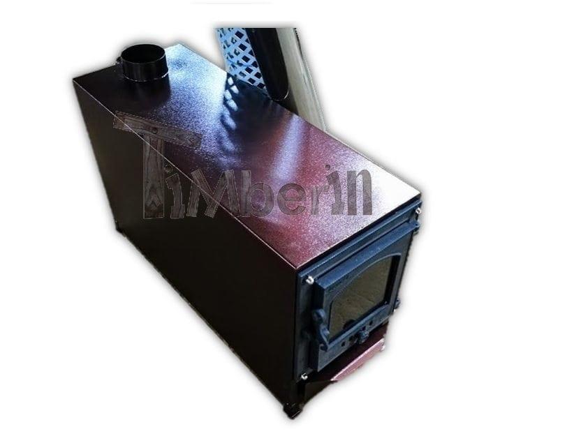 au en rechteginen holzofen mit dekoration timberin. Black Bedroom Furniture Sets. Home Design Ideas
