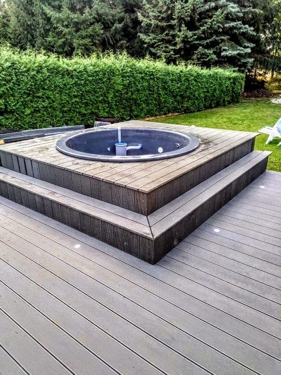 Badetonne-Fiberglas-Terrasse-Einbaumodell-Classic-Modell-31 Bewertungen - Erfahrung TimberIN