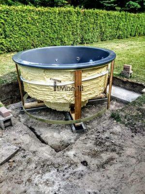 Badetonne Fiberglas Terrasse Einbaumodell Classic Modell (9)