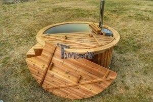 Luxus Holz Thermo Badefass mit Kunststoffeinsatz (17)