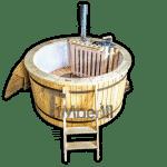 Badezuber Badebottich 180 Kunststoff mit Innenofen