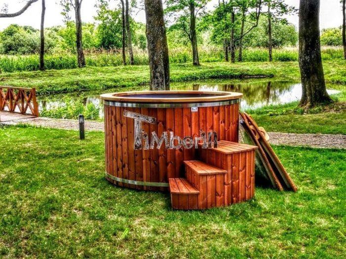 Badetonne-Badezuber-Badebottich-Badefass-mit-Elektroofen-700x525 Badezuber - Badefass - Badetonne - Badebottich - Hot Tubes für Ihren Garten!