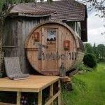Gartensauna-Rund-Alain-Dupont-Obersteckholz-Switzerland-150x150 Fasssauna - Gartensauna - Saunafass - Außensauna mit Vorraum, Holzofen für draußen