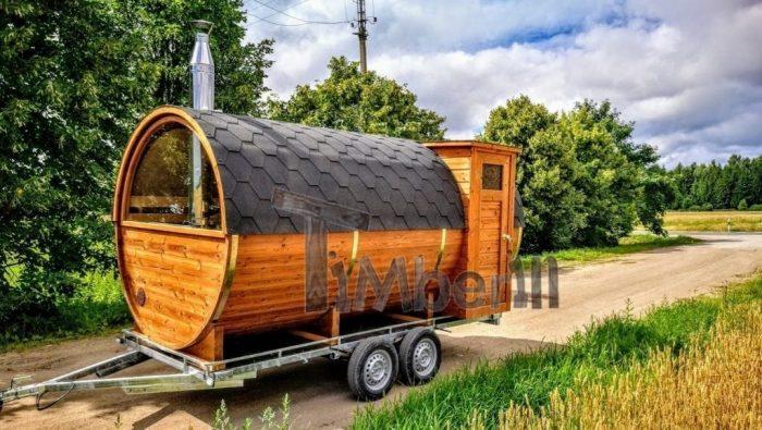 Fasssauna-mobile-mit-Vorraum-und-Holzofen-kaufen-700x395 Fasssauna - Saunafass - Aussensauna mit Vorraum, Holzofen in der Schweiz kaufen
