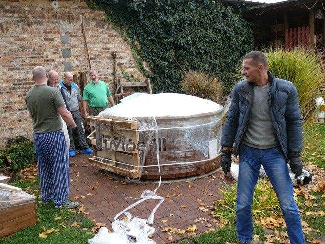 Fiberglas Ausgekleidete Hot Tub Mit Integriertem Brenner Thermoholz Wellness Royal, Herbert, Deutschland (5)