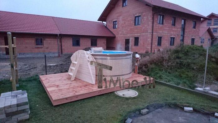 Badefass mit Kunststoffeinsatz und Fichte Holzverkleidung,  Markus, Ortsteil Oberflossing, Deutschland