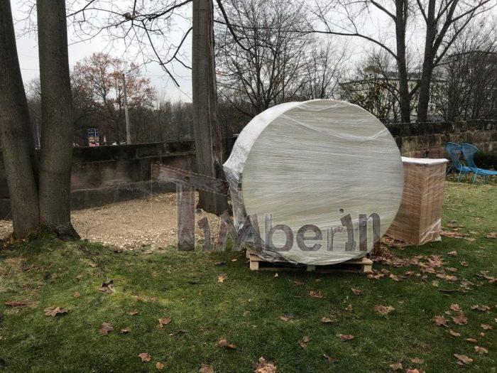 Badetonne mit Kunststoffeinsatz, Luftsprudelmassage-System und 2 LED, Brigitte, Nürnberg, Deutschland