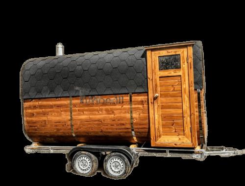 Mobile Rechteckige Außensauna Auf Rädern Anhänger (1)