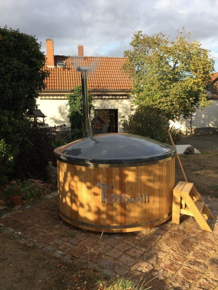 Badezuber GFK Lärche Mit Integriertem Ofen Wellness Deluxe, Bodo, Kemberg, Deutschland (5)