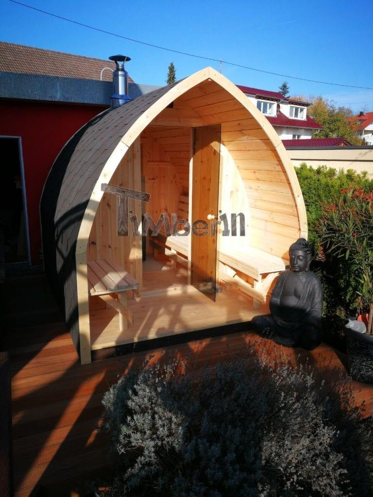Außensauna-für-Garten-Iglu-Design-Peter-Horgenzell-Deutschland-6 Bewertungen - Erfahrung TimberIN