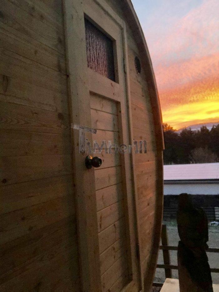 Außensauna Mit Anhänger Mit Panoramafenster, Ankleideraum Und Harvia Holzofen, Sandy, Niederwallmenach, Deutshchland (2)