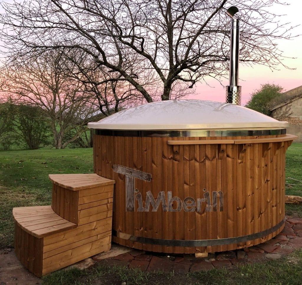 Badefass-gfk-Thermoholz-mit-integriertem-Ofen-Wellness-Royal-Silvan-SAVERDUN-Frankreich-3 Bewertungen - Erfahrung TimberIN