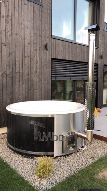 Badezuber-GFK-Lärche-mit-integriertem-Ofen-Wellness-Deluxe-Sascha-Edertal-Deutschland Bewertungen - Erfahrung TimberIN