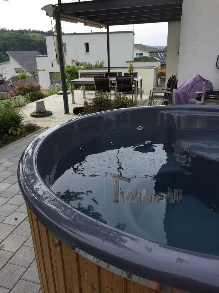 Badefass Gfk Thermoholz Mit Integriertem Ofen Wellness Royal, Beni, Magden, Schweiz (3)