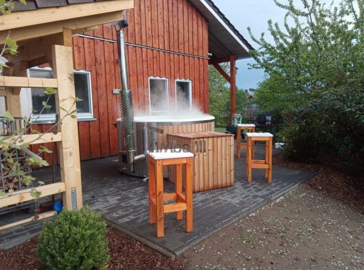 Badefass Gfk Thermoholz Mit Integriertem Ofen Wellness Royal, Ingo, Syke, Deutschland (2)