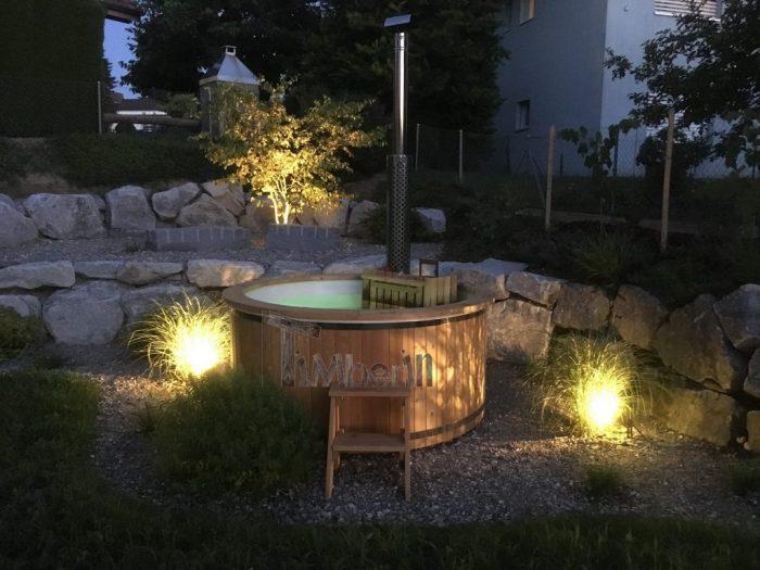 BADETONNE FIBERGLASEINSATZ MIT INNENOFEN WELLNESS BASIC, Reto, Rothrist, Schweiz (4)