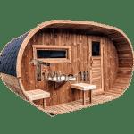 Ovale Aussensauna Mit Holzofen Und Vorraum (1)