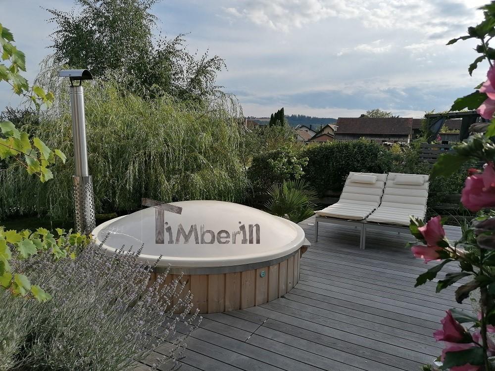 Badefass-gfk-Thermoholz-mit-integriertem-Ofen-Wellness-Royal-Daniela-Hollenthon-Österreich-1 Bewertungen - Erfahrung TimberIN