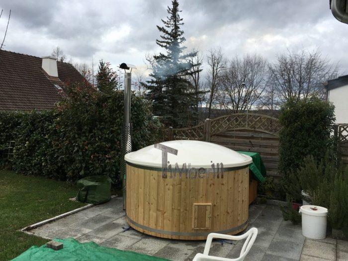 Badezuber GFK Lärche Mit Integriertem Ofen Wellness Deluxe, Renné, Möhlin, Schweiz (2)