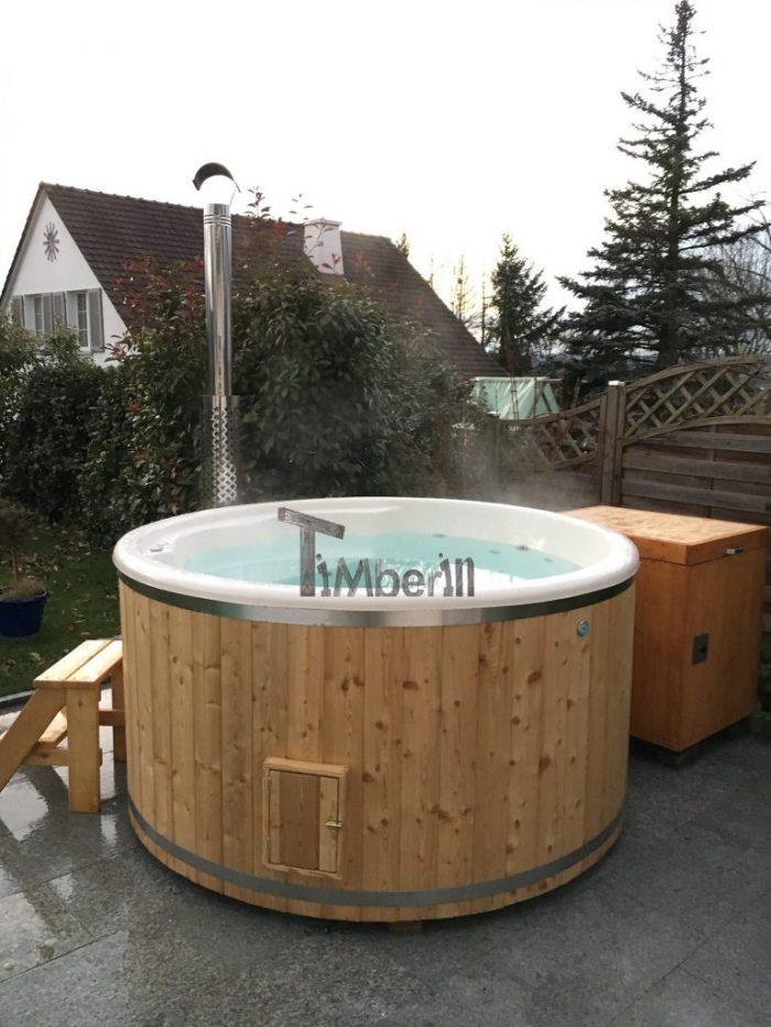Badezuber GFK Lärche Mit Integriertem Ofen Wellness Deluxe, Renné, Möhlin, Schweiz (3)