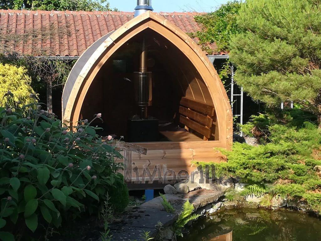 Außensauna-für-Garten-Iglu-Design-LudgeraCoesfeld-Deutschland-3 Bewertungen - Erfahrung TimberIN