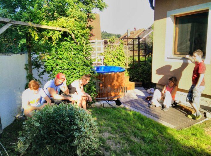 Badefass Gfk Thermoholz Mit Integriertem Ofen Wellness Royal, Peter, Maria Anzbach, Österreich (4)