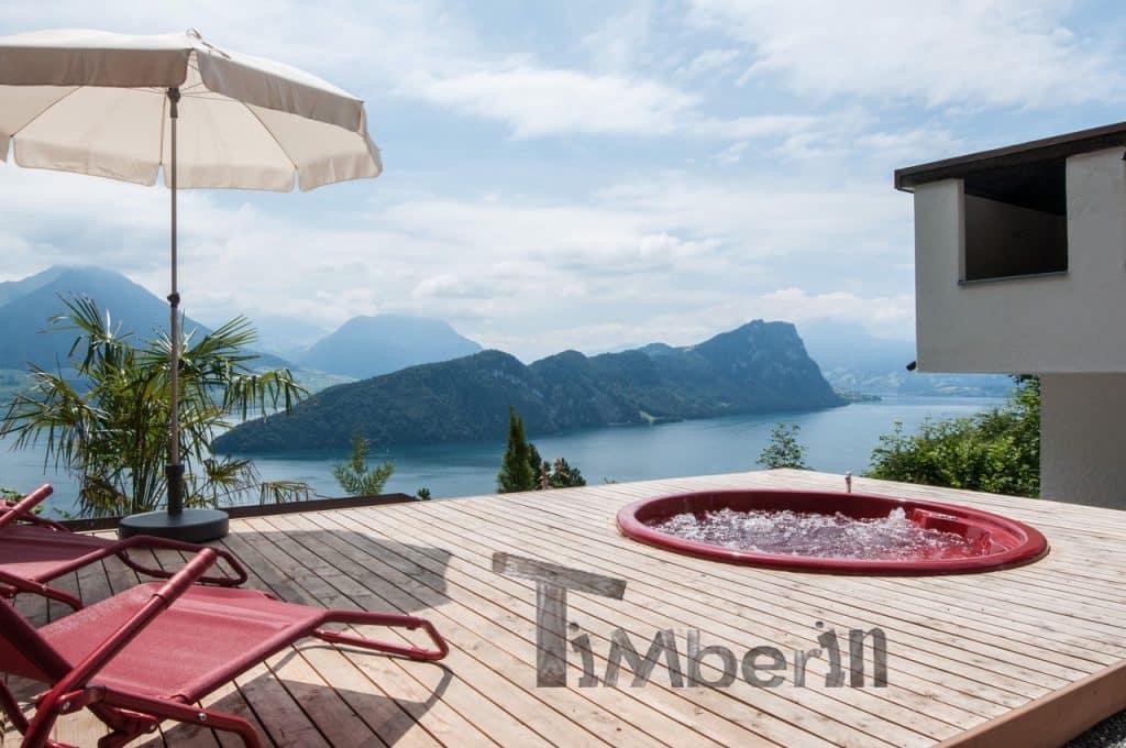 Badezuber-Fiberglas-Terrasse-Einbaumodell-mit-konischen-Wänden-Laszlo-Zürich-Schweiz-3 Bewertungen - Erfahrung TimberIN