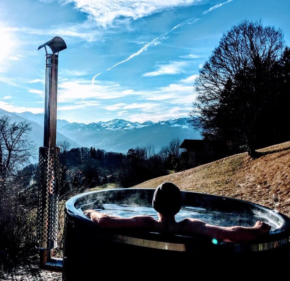 Badefass-Badezuber-TimberIN Badezuber - Badefass - Badetonne - Badebottich - Hot Tubes für Ihren Garten!