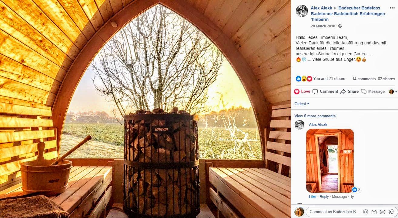 Fasssauna 2020 Aussensauna Saunafass Mit Holzofen Vorraum Kaufen