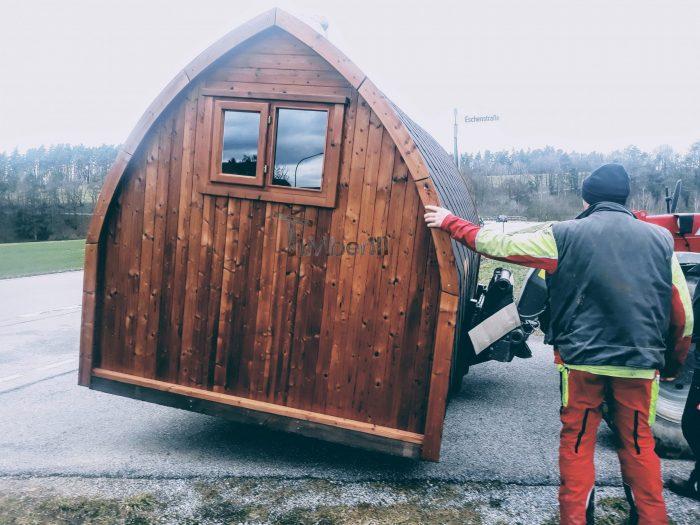 Außensauna Für Garten Iglu Design, Norbert, Wald, Deutschland (6)