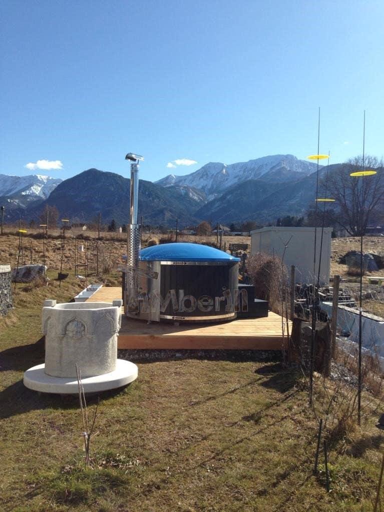 Badezuber-GFK-Scandinavia-mit-App-gesteuerter-Smart-Pelletofen-Helene-St.Jakob-Österreich Bewertungen - Erfahrung TimberIN