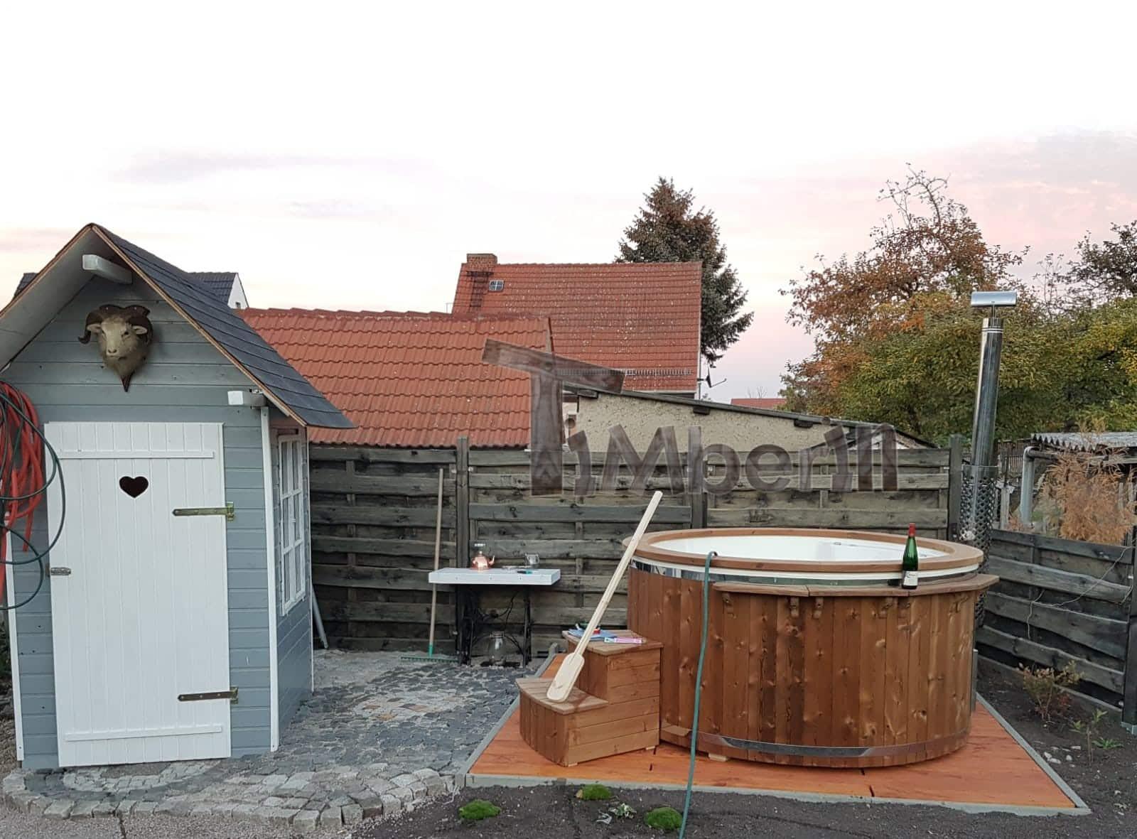Badefass-gfk-Thermoholz-mit-integriertem-Ofen-Wellness-Royal-Stefanie-Sömmerda-Deutschland-1 Bewertungen - Erfahrung TimberIN