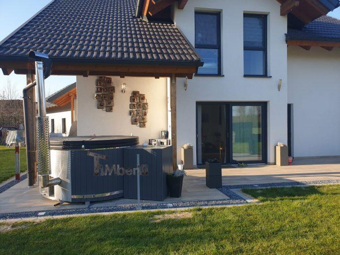 Badezuber Fiberglas Terrasse Einbaumodell Mit Konischen Wänden, Bianca, Zell An Der Pram, Osterreich (2)