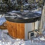 Badezuber Badefass Hot Tube Mit Whirlpool Holzofen (13)