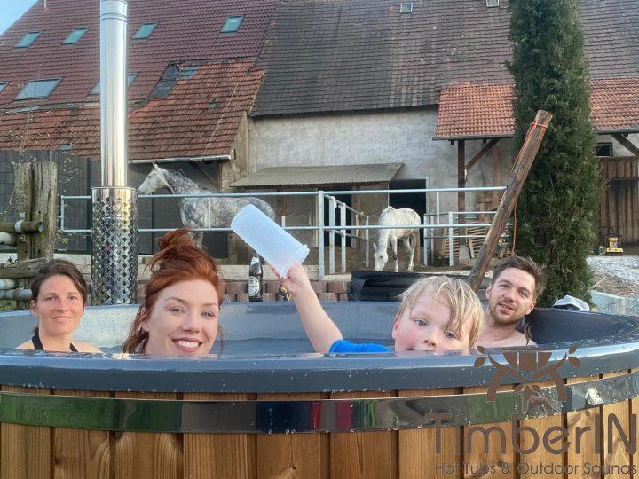 Badezuber Badefass Hot Tube Mit Whirlpool Holzofen TimberIN Rojal, Christian, Graben Neudorf, Deutschland