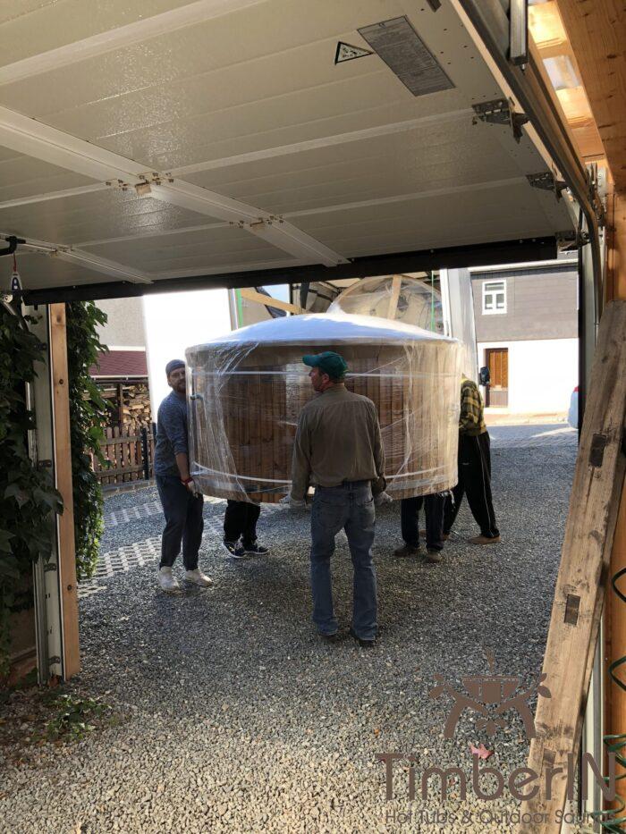Badefass Gfk Thermoholz Mit Integriertem Ofen Wellness Royal, Ina, Mohlsdorf Teichwolframsdorf Thüringen, Deutschland (4)