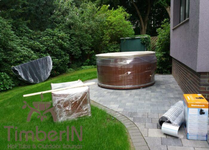 Badezuber Badefass GFK WPC – Thermoholz Verkleidung Mit SMART Pellet Oder Holzofen (6)