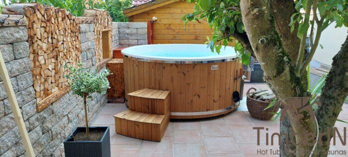 Badezuber Badefass Hot Tube Mit Whirlpool Holzofen TimberIN Rojal, Martin, Steinach, Deutschland (1)