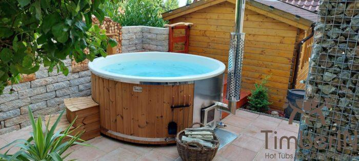 Badezuber Badefass Hot Tube Mit Whirlpool Holzofen TimberIN Rojal, Martin, Steinach, Deutschland (3)