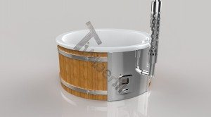 Badetonne_GFK_Wellness_3D_Render_(3) Badefass gfk Thermoholz mit integriertem Ofen Wellness Royal